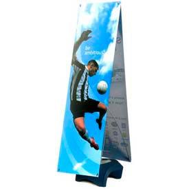 "SpeedPress® Double Wind Wise Outdoor Banner Stand 63""-69""H"