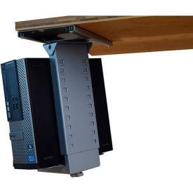 Uncaged Ergonomics CPU2g Under-Desk Swivel and Slide CPU Holder, Neutral Gray