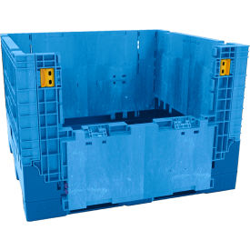 "Buckhorn Heavy-Duty Collapsible Bulk Containers - 48""Wx45""Lx34""H - Blue"