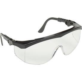 Crews Tomahawk Wraparound Glasses - Clear Lens - Black Frame