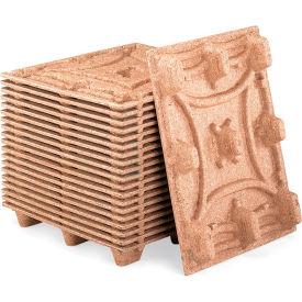 "Nestable Presswood Pallets - Standard - 45""W x 45""L x 5.1""H - 2500-Lb. Capacity On Floor - Pkg Qty 5"