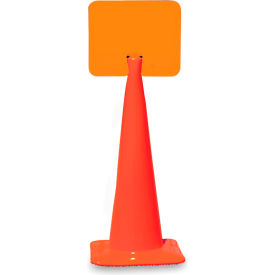 """Snap-On Signs For Traffic Cones - 14""""Wx10""""H - Blank"""