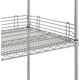 "4""H Shelf Side Ledge For Open Wire Shelving - 18"""