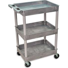 "Luxor H. Wilson Tray-Shelf Carts - 24""Wx18""D Shelf - 40-1/2""H"