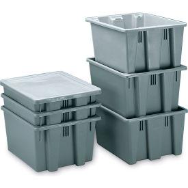 Rubbermaid Palletote Box FG172100GRAY 1.3 Cu. Ft. - Pkg Qty 10