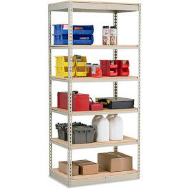 "Penco Rivet-Rite Single-Rivet 250-350-Lb. Capacity High-Density Shelving - 48X12X84"" - No Decking"