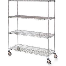 "Metro Stainless Steel Wire Shelf Trucks - 36"" Wx18"" D Shelf"