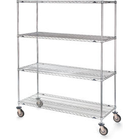 "Metro Super Erecta Shelf Trucks with Wire Shelves - 60"" Wx18"" D Shelf - 79"" H"