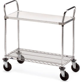 "Metro Galvanized/Wire Carts - 36""W x 18""D Shelf"