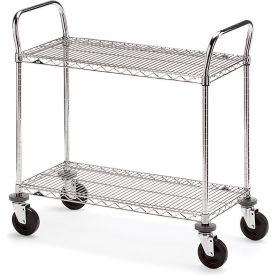 """Metro Two-Shelf Wire Carts - 48"""" Wx24"""" D Shelf"""