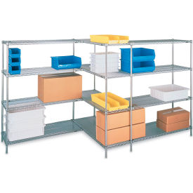 "Metro Super Erecta Brite Zinc Plated Open-Wire Shelving - 48""W X 24""D X 74""H - Starter Units"