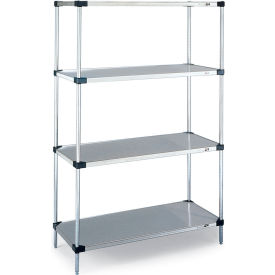 """Metro Corrosion-Resistant Shelving Components - 54-9/16""""H Post - Stainless Steel"""