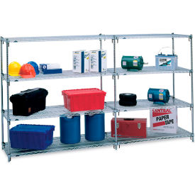 "Metro 5AA377C Super Adjustable 2 Shelving - 72x18x74"" - Add-On Units"