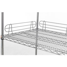 """Relius Solutions 5""""H Side And Back Shelf Ledge For Wire Shelving With Chrome Finish 72"""""""