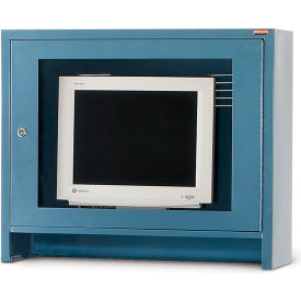 Relius Solutions Monitor Hood For Mobile Computer Cabinets, Blue