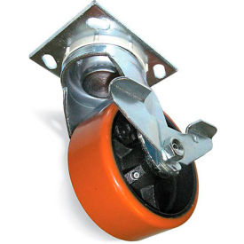 "Fairbanks Caster - Swivel - 8"" Dia. x 2""W Polyurethane Wheel"
