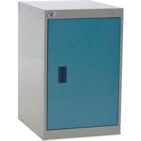 Rousseau Cabinet Pedestal For Modular Mobile Cabinets - One Shelf - Everest Blue/Lt. Gray