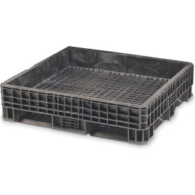 Orbis Heavy-Duty Bulkpak Container HDRS4845-21 - 48 x 45 x 24.8 - Fixed Wall Black