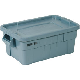 Rubbermaid 14 Gallon Brute Tote with Lid FG9S3000GRAY -  27-1/2 x 16-3/4 x 10-3/4  - Gray - Pkg Qty 6