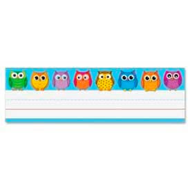 """Carson-Dellosa Owl Nameplates, 9-1/2"""" x 2-7/8"""", 36/Pack by"""