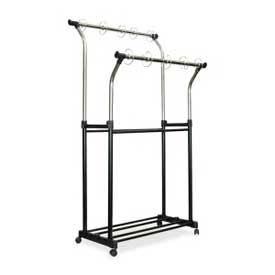Carson-Dellosa® Double Pocket Chart Stand, Chrome/Black