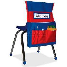 "Carson-Dellosa Chairback Buddy Pocket Chart, 15""W x 2""D x 19""H, Blue/Red by"
