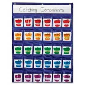 "Carson-Dellosa Positive Reinforcement Pocket Chart, 22"" x 29"" Chart, 31 Pcs/Pack by"