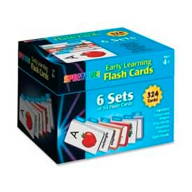 Carson-Dellosa Early Learning Flash Cards, CDP744085, Two-Sided, 324 Cards/Box