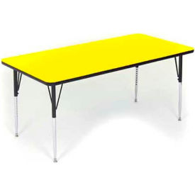 """Activity Tables, 48""""L x 30""""W, Standard Height, Rectangular - White"""