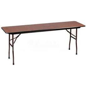 "Correll Folding Table - Laminate - 72""L x 18""W - Rectangular - Medium Oak"