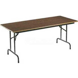tables folding tables correll folding table laminate 72 l x 24 w rectangular walnut. Black Bedroom Furniture Sets. Home Design Ideas