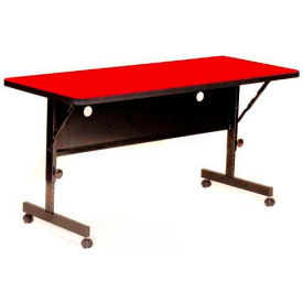 """Correll Flip Top Training Table - Laminate - 24"""" x 48"""" Red"""
