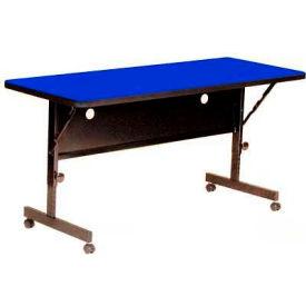 "Correll Flip Top Training Table - Laminate - 24"" x 60"" Blue"
