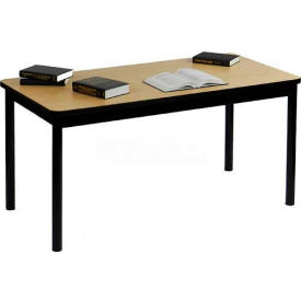 """Correll Library Tables 30""""W x 48""""L x 29""""H - Fusion Maple"""