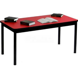 "Correll Library Tables 30""W x 48""L x 29""H - Red"