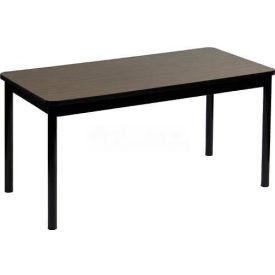 """Correll Library Tables 30""""W x 60""""L x 29""""H - Walnut"""