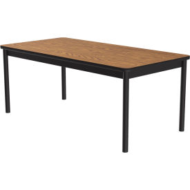 "Correll Library Tables 36""W x 72""L x 29""H - Medium Oak"