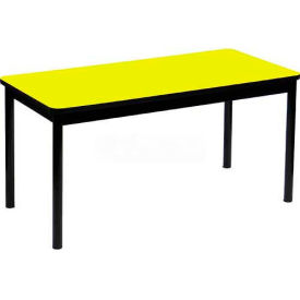 """Correll Library Tables 36""""W x 72""""L x 29""""H - Yellow"""