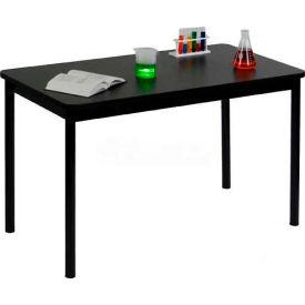 "Correll Science Lab Table - Laminate Top - 36""W x 72""L x 36""H - Black Granite"