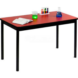 "Correll Science Lab Table - Laminate Top - 36""W x 72""L x 36""H - Yellow"