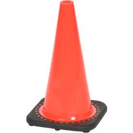 "18"" Solid Orange Cone W/ Black Base"