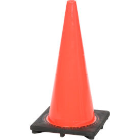 "28"" Solid Orange Cone W/ Black Base"