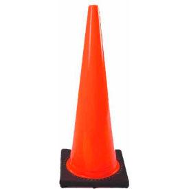 """36"""" Solid Orange Cone W/Black Base - Pkg Qty 4"""