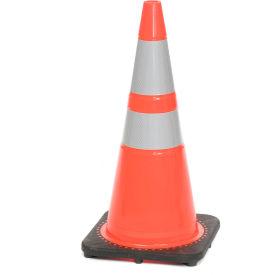 "28"" Traffic Cone, Reflective, Orange W/ Black Base, 7bs, 03-500-10"