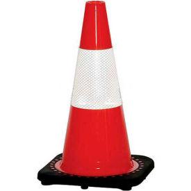 "18"" Traffic Cone, Reflective, Orange W/ Black Base, 3 lbs, 03-500-21 - Pkg Qty 12"