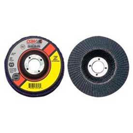 "CGW Abrasives 31035 Abrasive Flap Disc 7"" x 7/8"" 80 Grit Zirconia - Pkg Qty 10"