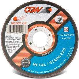 "CGW Abrasives 35514 Cut-Off Wheel 4-1/2"" x 7/8"" 36 Grit Type 1 Zirconia Aluminium Oxide - Pkg Qty 25"