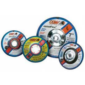 "CGW Abrasives 35618 Depressed Center Wheel 4-1/2"" x 1/8"" x 7/8"" Type 27 24 Grit Silicon Carbide - Pkg Qty 25"