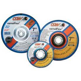 "CGW Abrasives 36102 Depressed Center Wheel 4-1/2"" x 1/4"" x 7/8"" Type 27 24 Grit Aluminum Oxide - Pkg Qty 25"