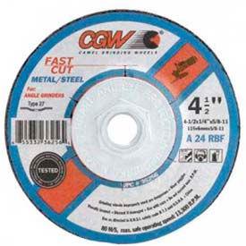 "CGW Abrasives 36261 Depressed Center Wheel 7"" x 1/4"" x 7/8"" Type 27 24 Grit Aluminum Oxide - Pkg Qty 25"